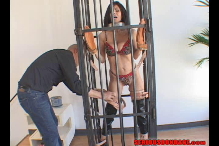 BDSM Ashley Renee - Vertical Cage