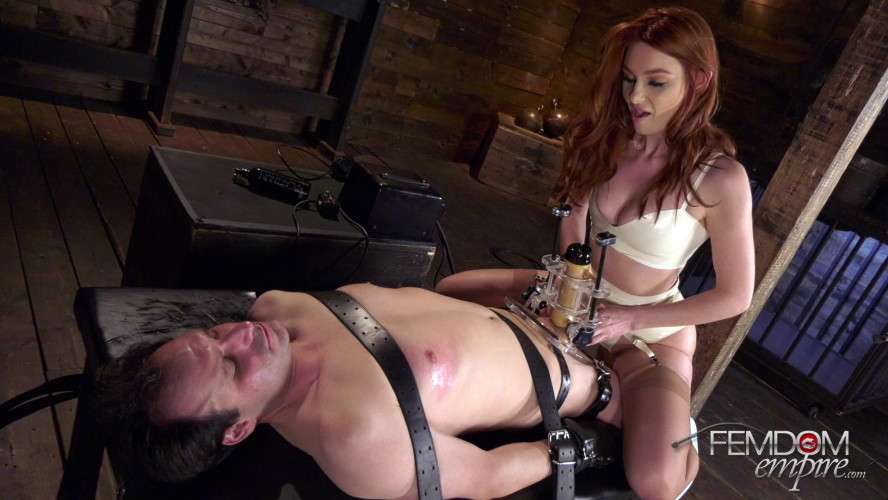 Femdom and Strapon Lacy Lennon - Edging Machine Experiments