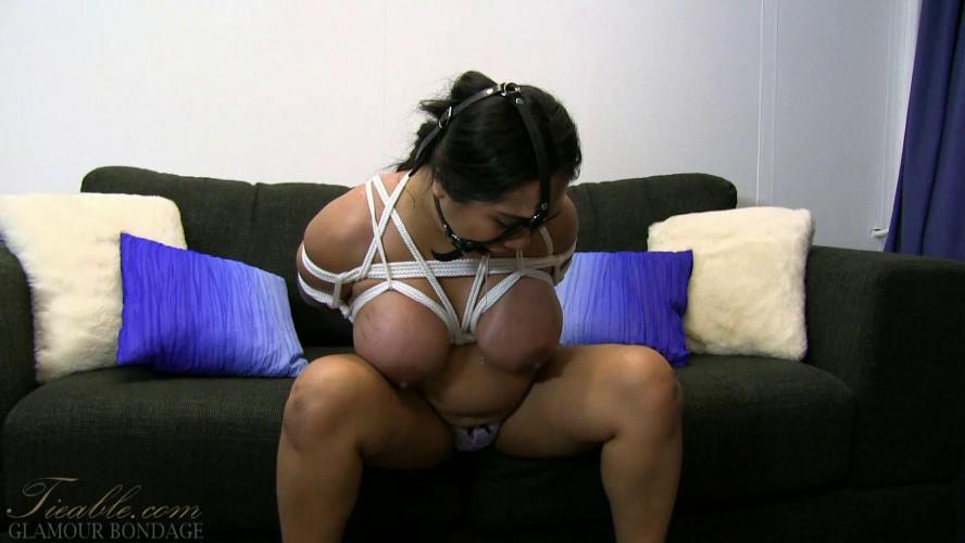 BDSM Amyka Lee - harness ring gag drooling