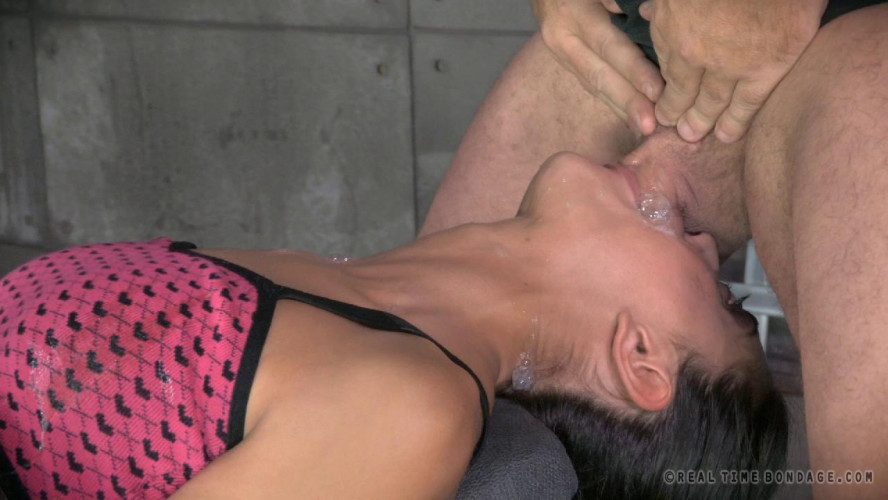 BDSM RTB - Sexy Girl bound, vibrated to orgasm and deepthroated by BBC!