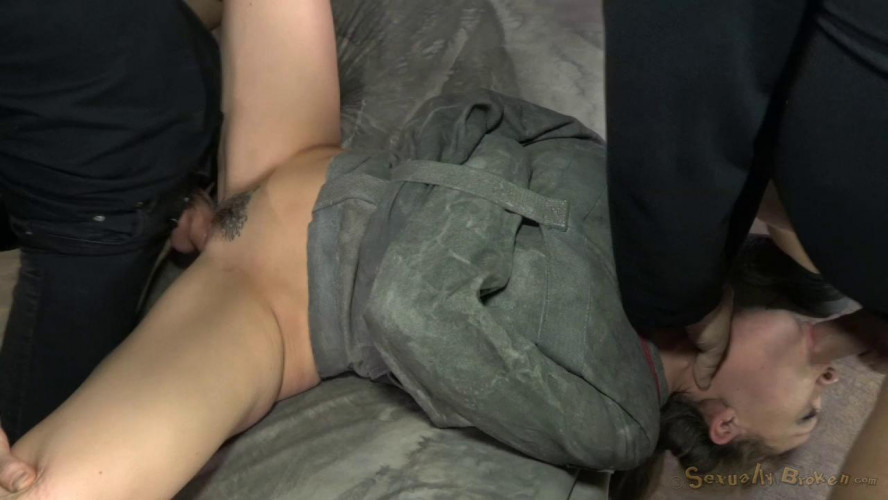 BDSM Chanel Preston tagteamed by dick, ragdoll fucked while straightjacketed, brutal epic deepthroat!