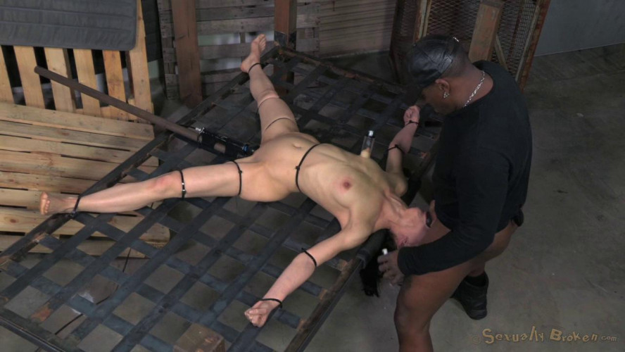 BDSM Elise Graves takes on 10 inch BBC, brutally deep throated without mercy