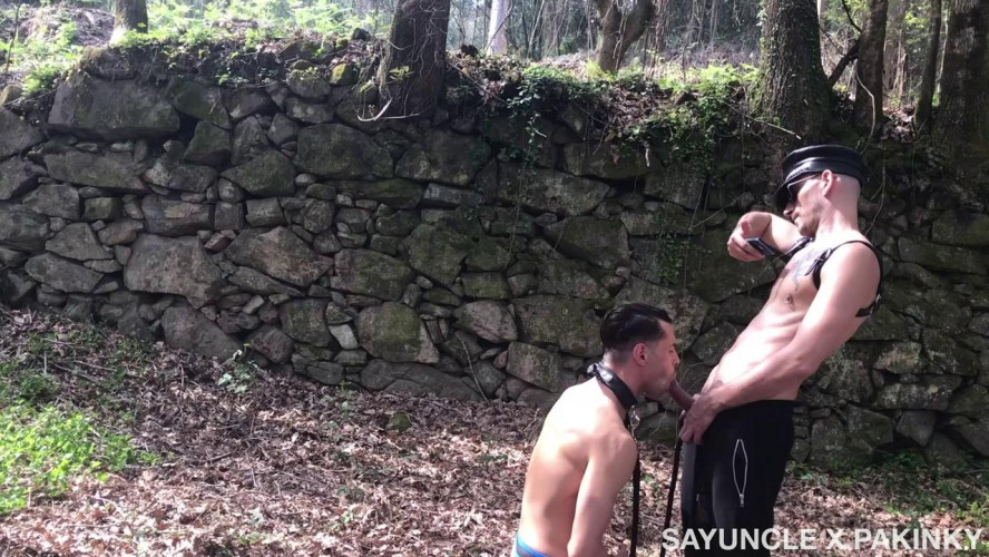 Gay BDSM Say Uncle X PA Kinky - Puppy in the Woods - JP Philips and Phillip Logan
