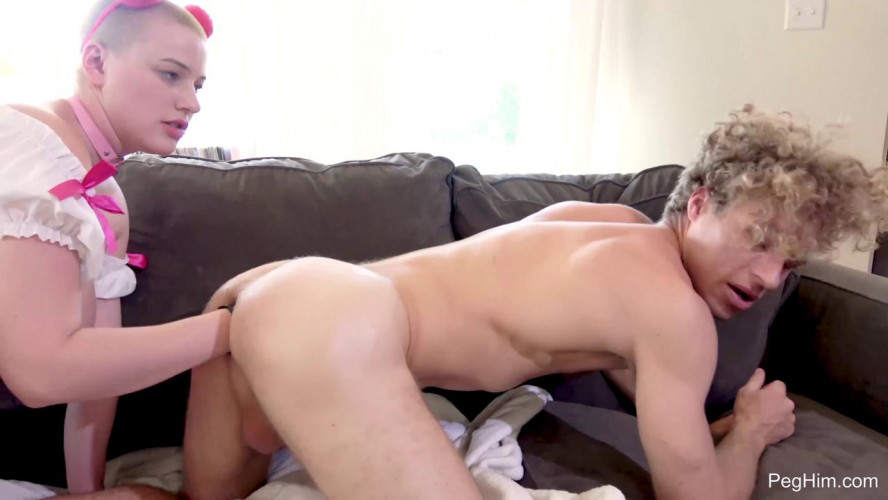 Femdom and Strapon After School Special