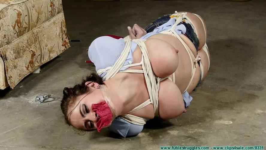 BDSM Gia Love Hogtied Part 3