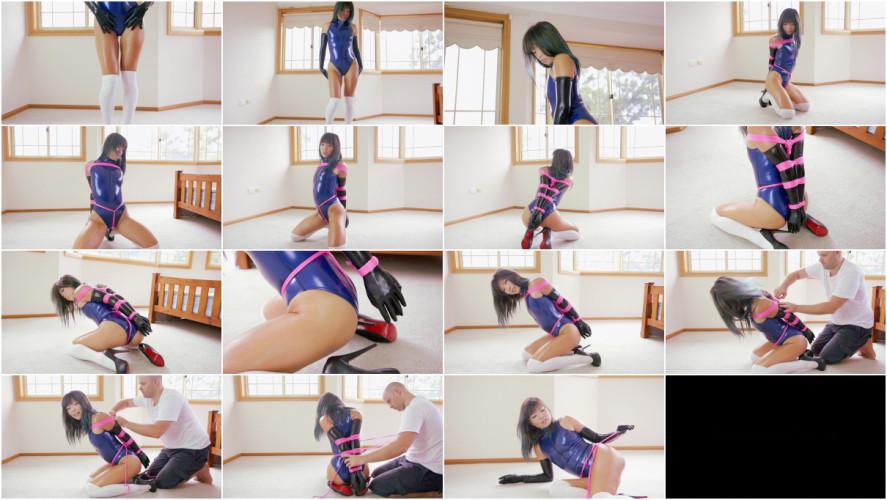 Asians BDSM Bdsm HD Porn Videos Metallic Blue Realise Bodysuit