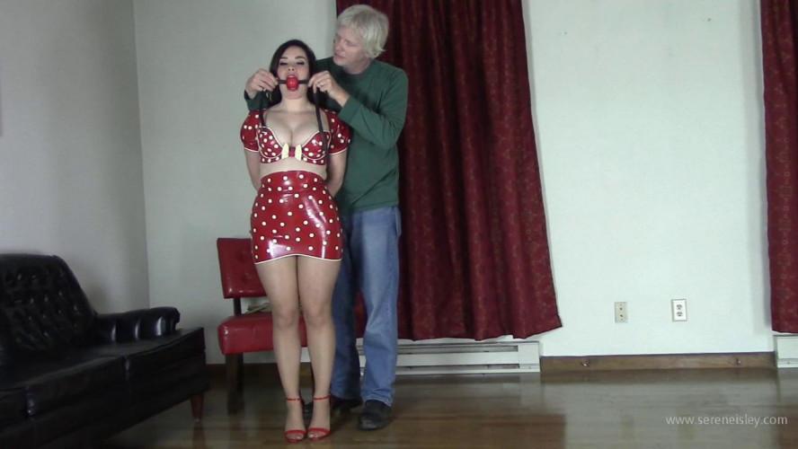 BDSM Latex Jasmin Jai - Red Latex and Jute Rope