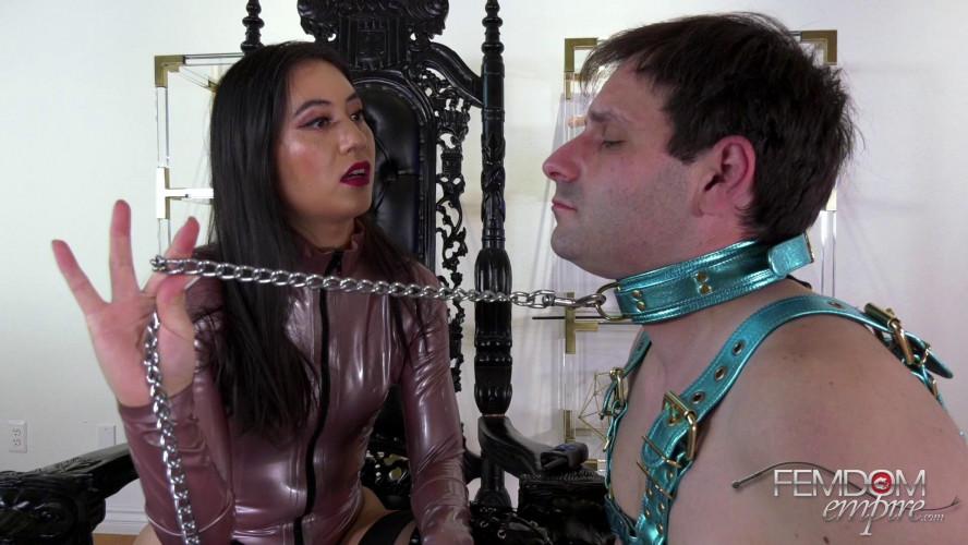Femdom and Strapon Mae Ling - Cum Slut Puppy