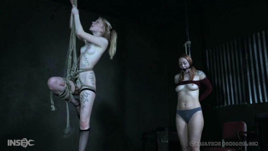 BDSM Skinny slaves Alice and Jacey punished together