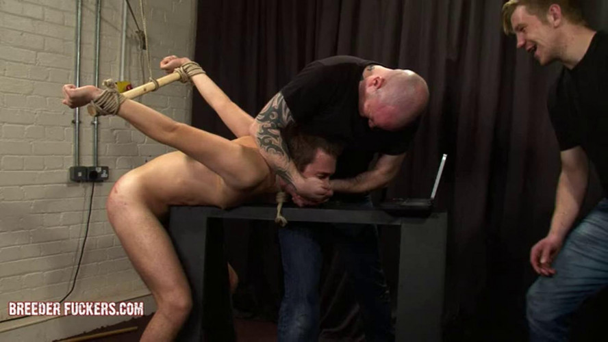 Gay BDSM Bare-handed spanking for Sergei