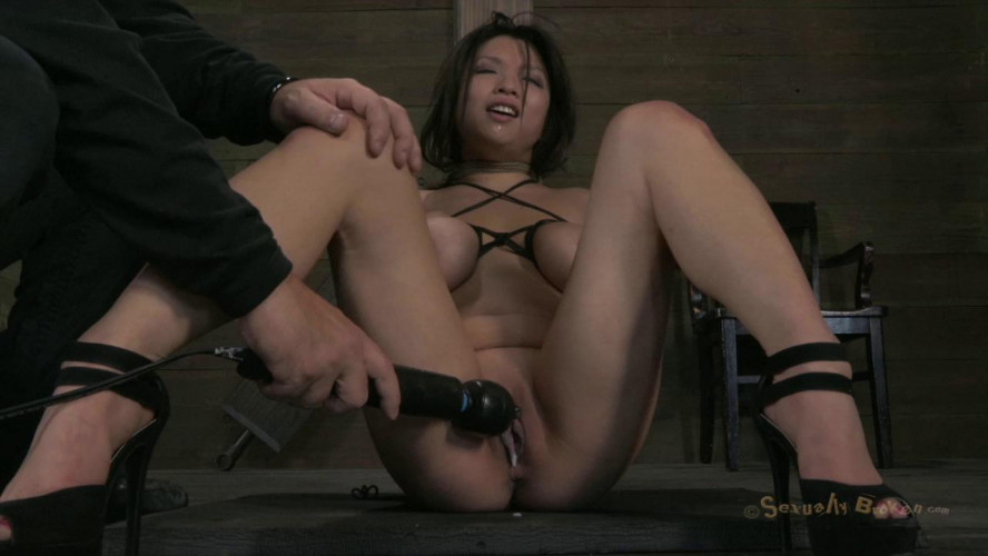 BDSM Hot Asian with huge natural tits, gets brutally skull fucked