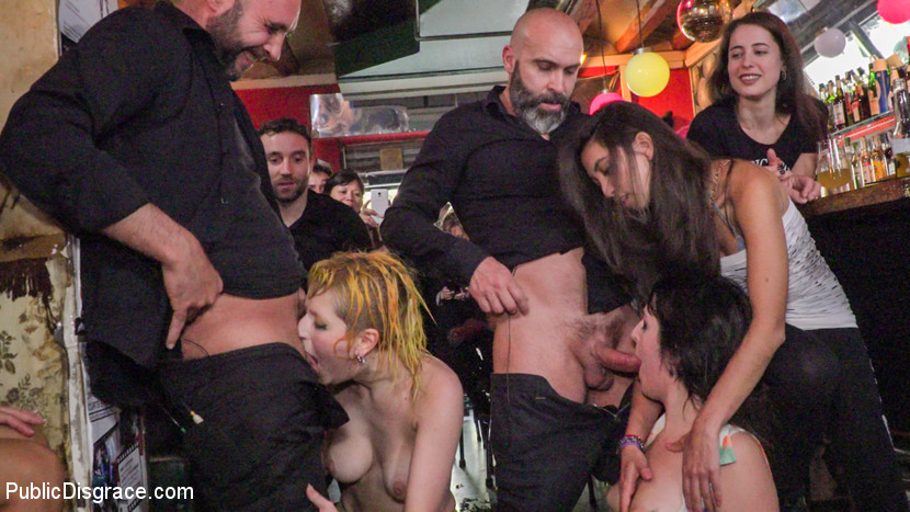 BDSM Spanish Bar turns into a Filthy Fuck Party! - Part 2