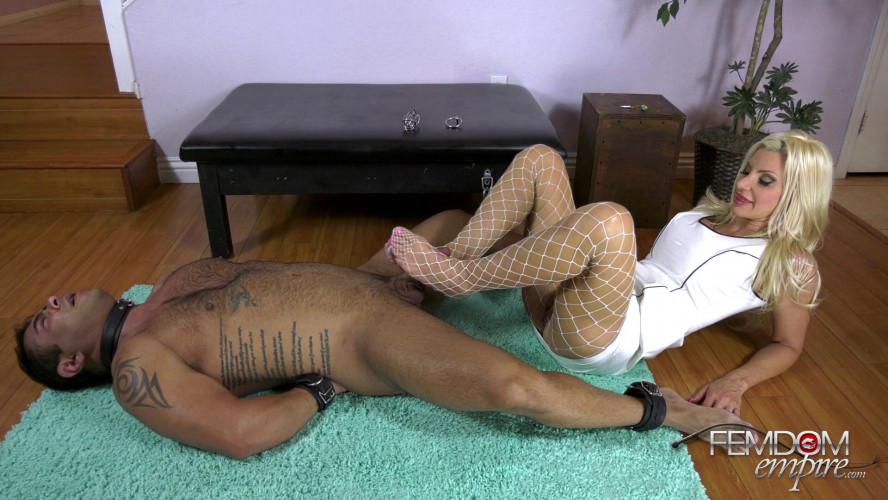Femdom and Strapon Brats Deserve Feet