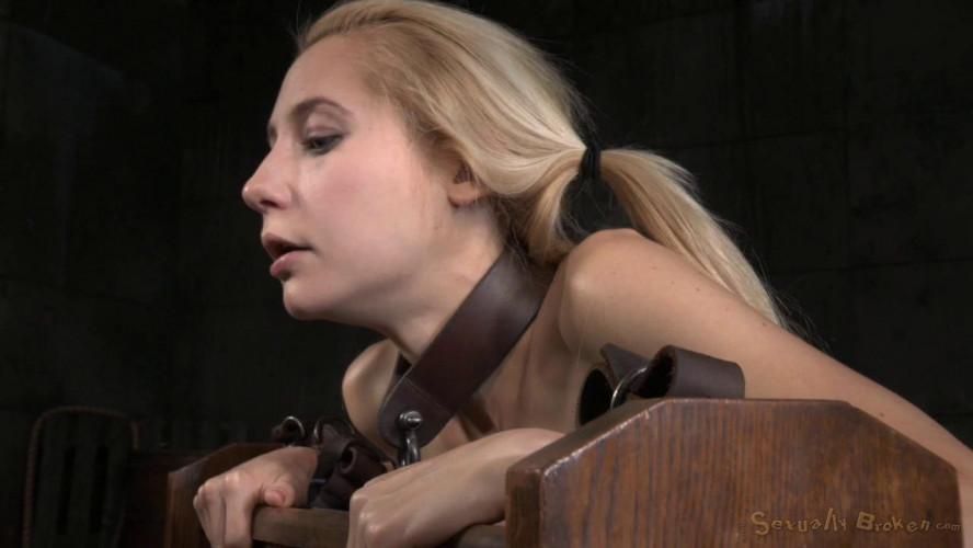 BDSM Tiny Blonde Odette Delacroix Belt Bound