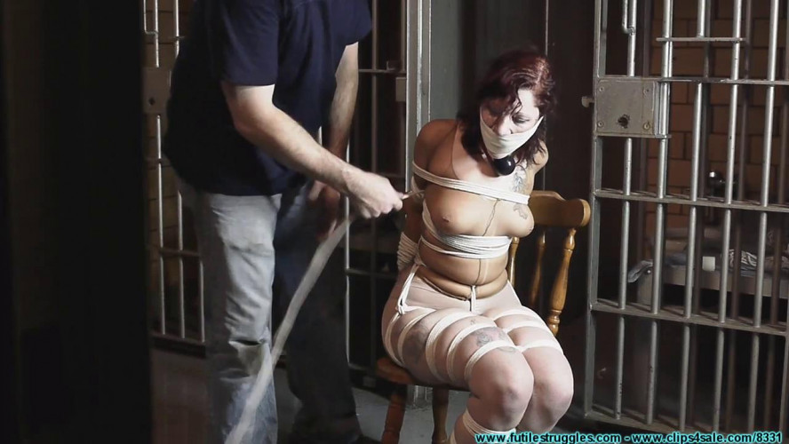 BDSM HD Bdsm Sex Videos Smalltown Jail Rinn Hogcuffed, to Excerise, then Hogtied Part 1
