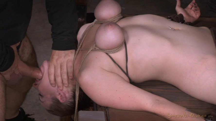 BDSM Bella Rossi Vibrated To Orgasm And Deepthroated By 10 Inch Bbc!