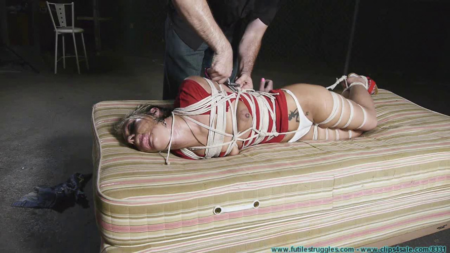 BDSM Good Old Fashioned tight Hogtie for Adara - Part 2