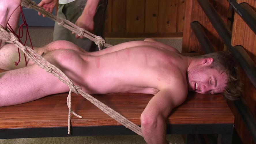 Gay BDSM Roped blonde boy fucked hard nathan vol. 5