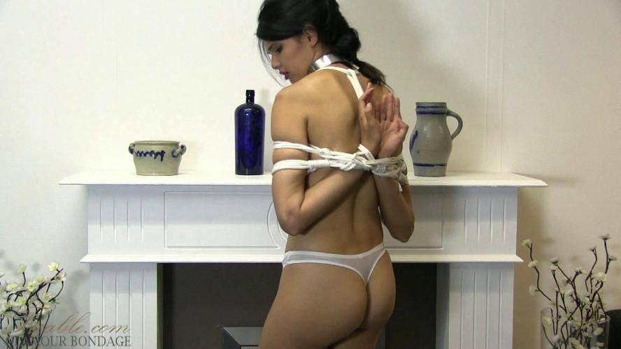 BDSM Yasmine - reverse prayer in white