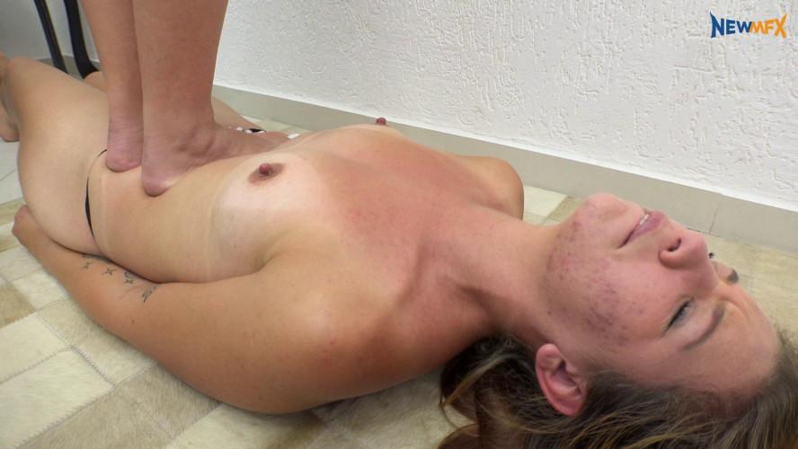 BDSM Dirty floor, dirty feet
