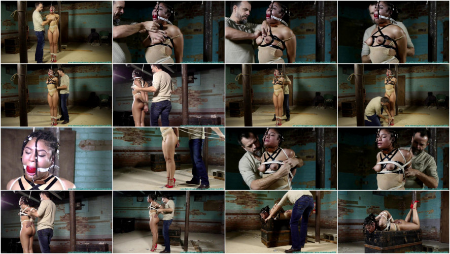 BDSM A Mesh Leotard Post Hogtie for Purple Jade - Part 2
