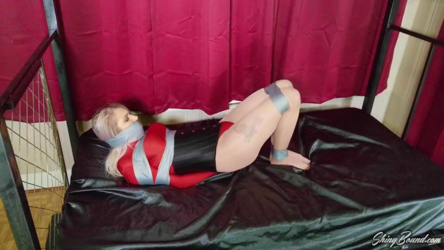 BDSM Maia Evon.. Leotard Girl Tape Bound