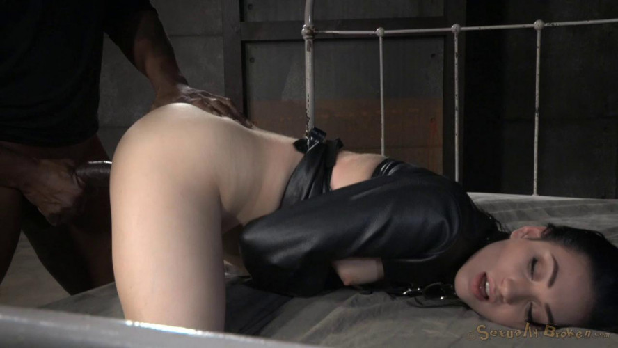 BDSM Aria Alexander Straightjacketed And Dicked Down By Bbc, Multiple Orgasms!