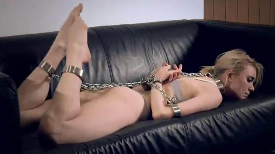 BDSM Super bondage, suspension and hogtie for young slavegirl