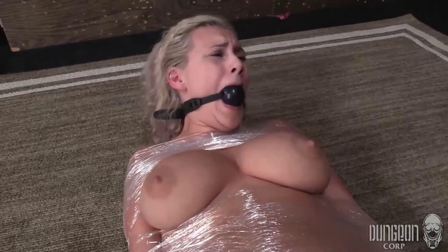 BDSM Hard bondage, mummification and torture for very hot blonde part 2 HD 1080
