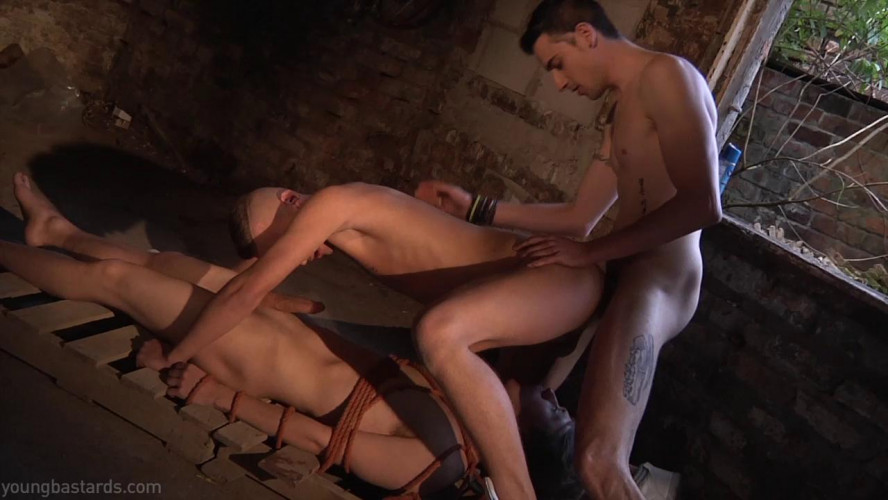 Gay BDSM YoungBastards - Bound and Boned. The torture of desire