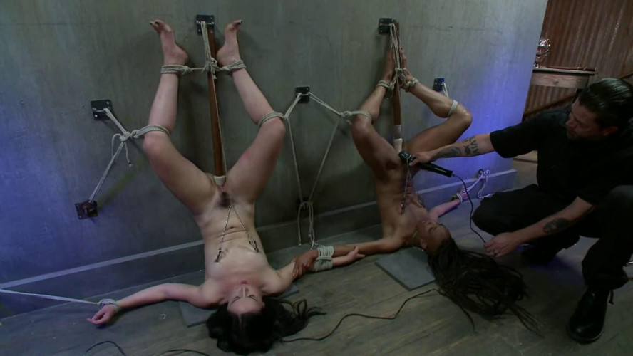 BDSM Bondage, torture and suspension for two sexy bitches part 1 Full HD