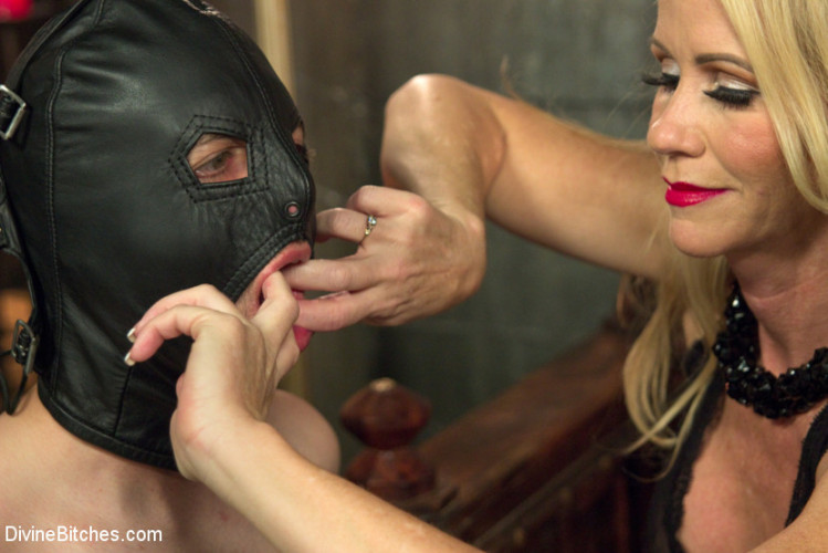 Femdom and Strapon Mrs. S cuckolds her slave with big black alpha cock!