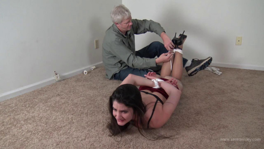 BDSM Arielle Lane: Hogtied and Groped