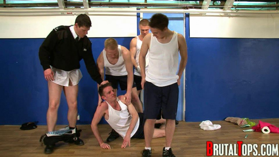 Gay BDSM Session 44 - Masters Chris, Toby, Lee & John