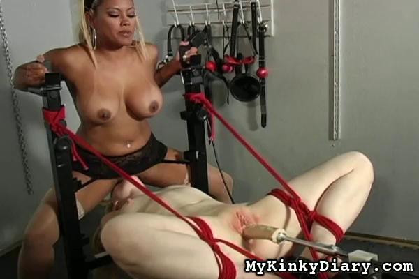 BDSM Sweet Sub Blondie is Hogtied for Punishment