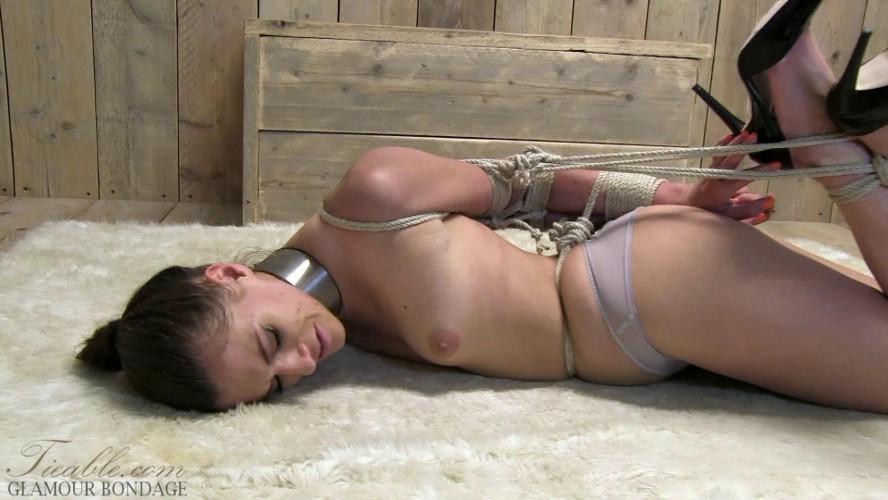 BDSM Britney - extreme elbow hogtie