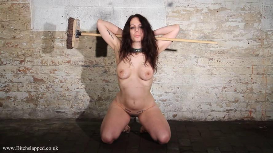 BDSM Tight bondage, domination and spanking for naked brunette part 2 HD 1080