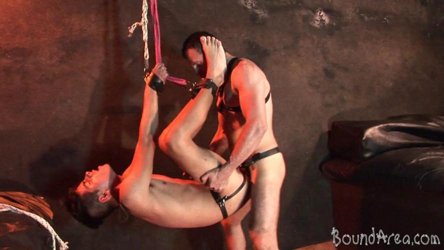 Gay BDSM BoundArea - Twink Slave Ravaged Raw In All Sorts of Suspension