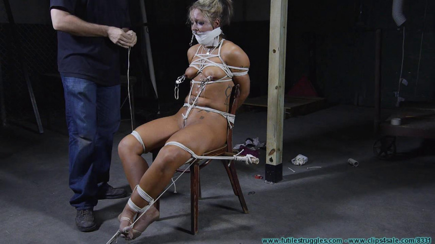 BDSM Punishing Nude Chair Tie for Adara - Part 3
