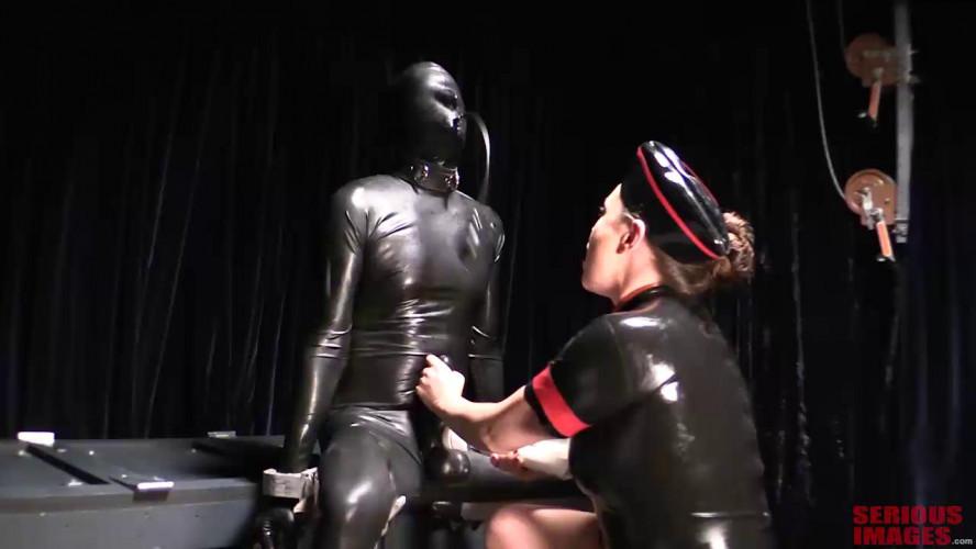 Femdom and Strapon Rubber Interrogation