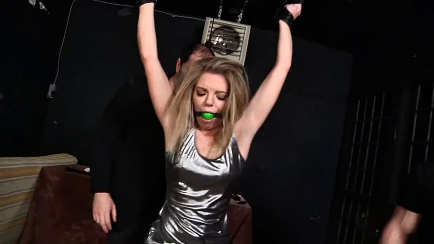 BDSM Tight bondage, strappado and torture for beautiful hot blonde