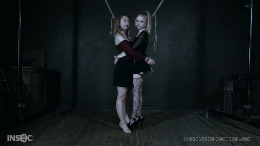 BDSM Alice and Jacey are tied together