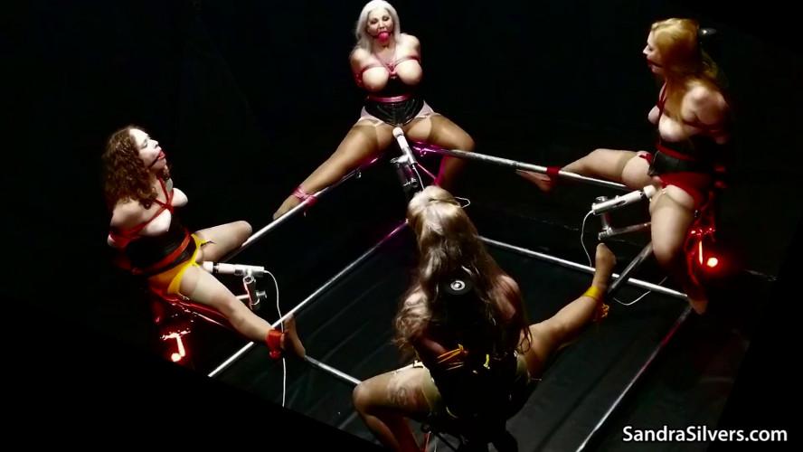 BDSM A Foursome of BallGagged, Drooling MILFs