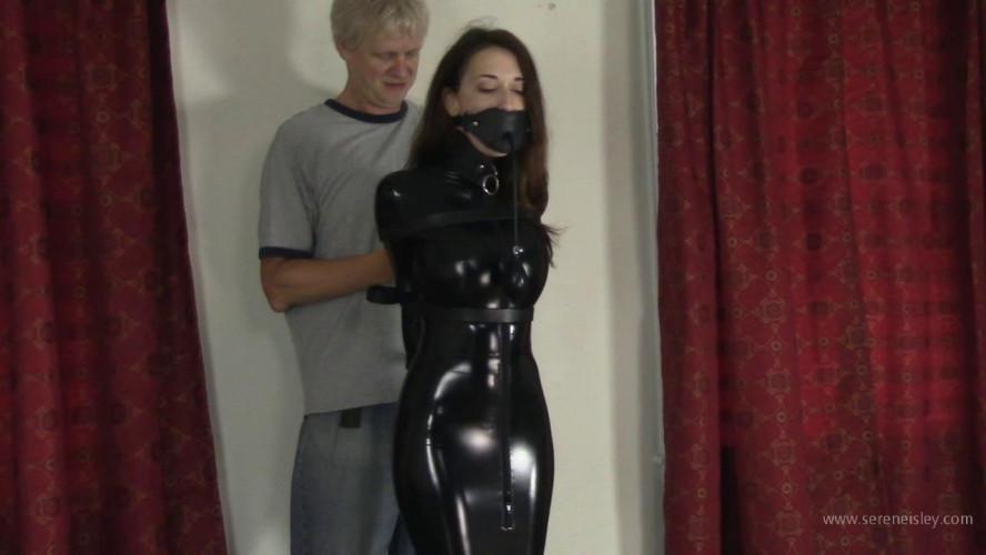BDSM Latex Nichole Skye - PVC Hobble Dress and Leather Bondage
