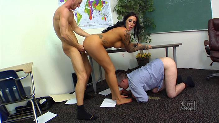 Femdom and Strapon Mean Cuckold Part 3