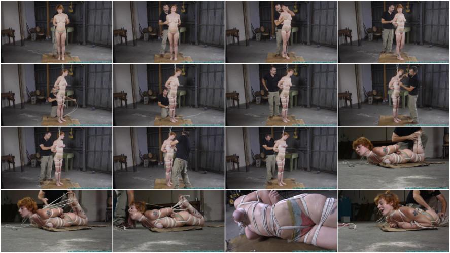 BDSM Muriel Hogtied