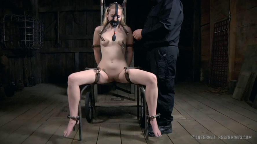 BDSM Super bondage, torture and spanking for naked blonde part 2