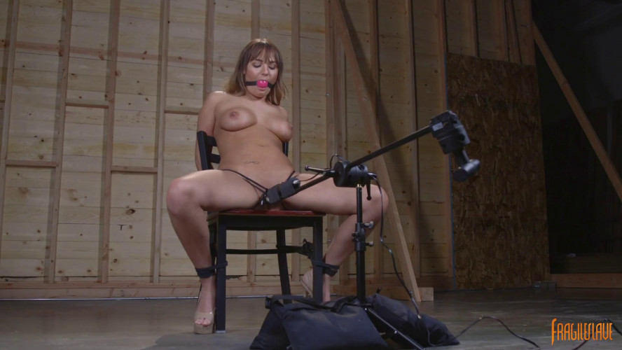 BDSM All Natural Babe Chair Bound