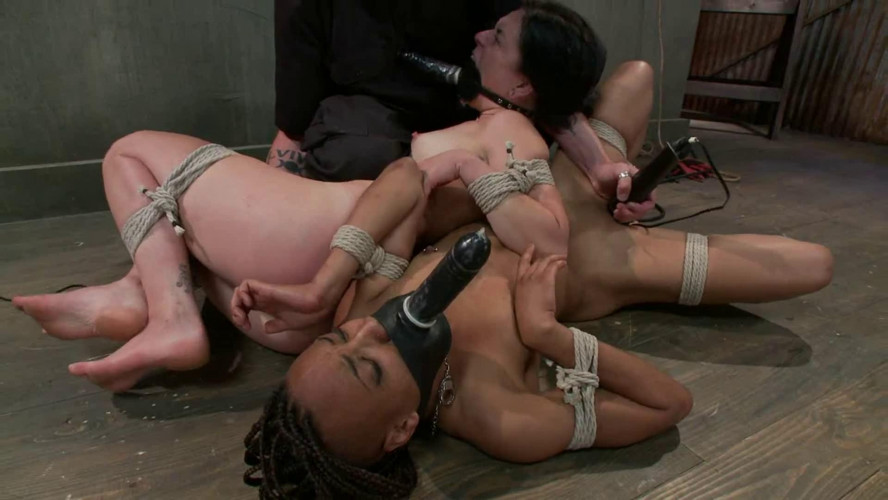 BDSM Bondage, torture and suspension for two sexy bitches part 3 Full HD
