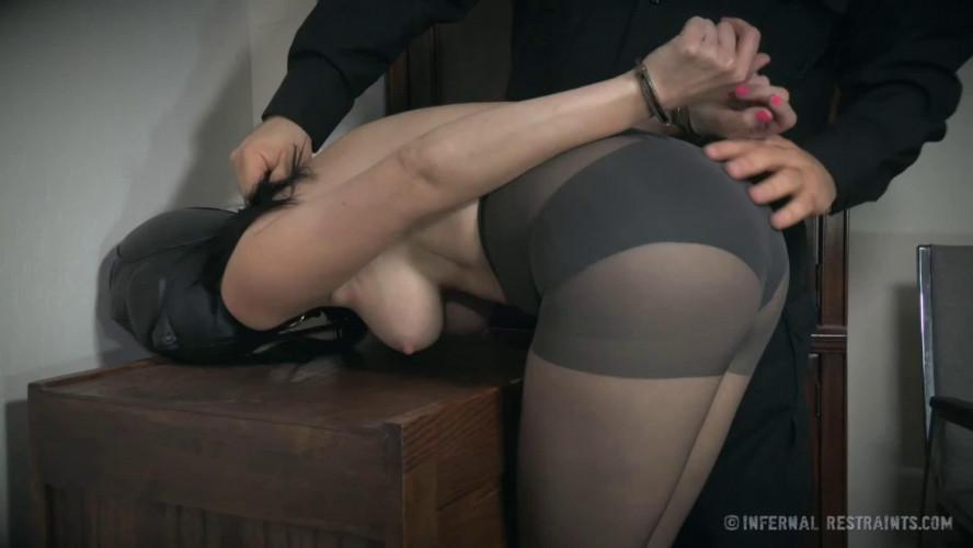 BDSM Super bondage, torture and spanking for naked brunette Full HD